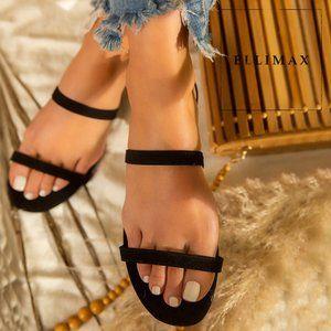 NEW🔥 Elastic Stretchy Strap Open Toe Slide Sandal